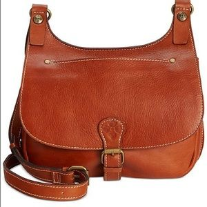 Patricia Nash Smooth Leather Crossbody Saddle Bag